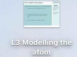 C1 Modelling the atom lesson