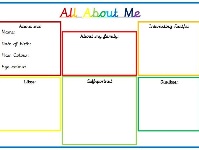 New Class - All About Me