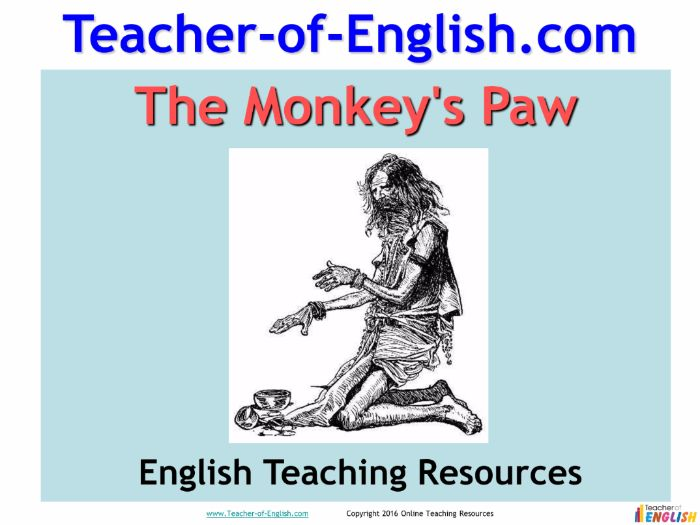 the monkeys paw essay questions