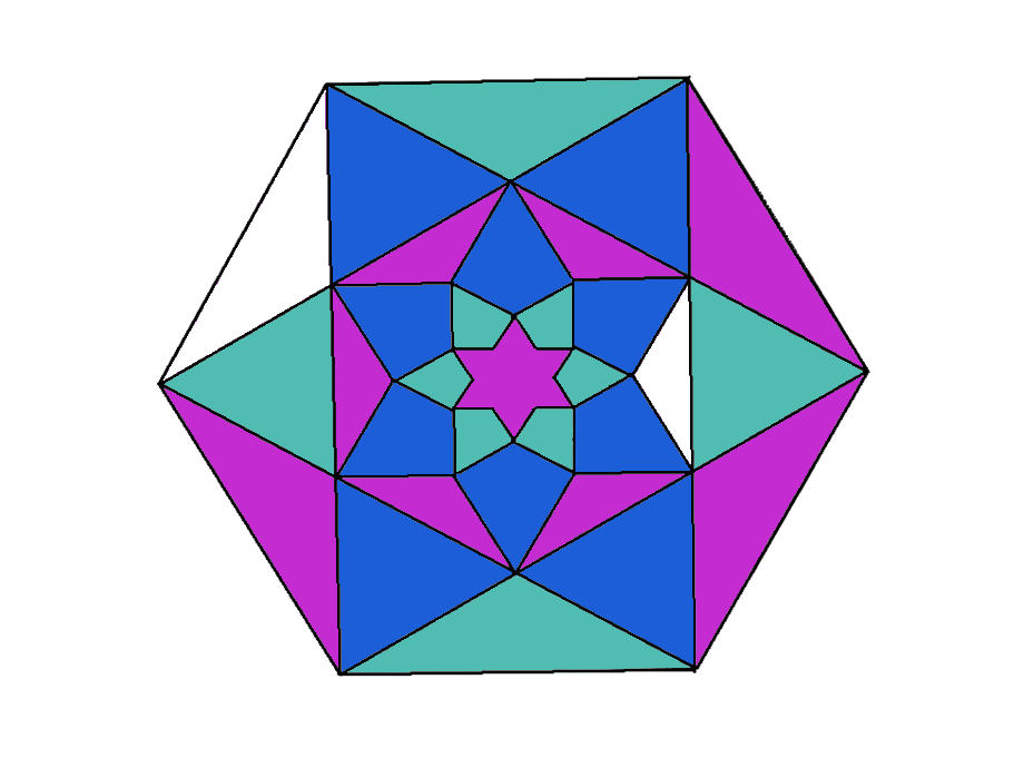 Colour by equivalent ratios with extension