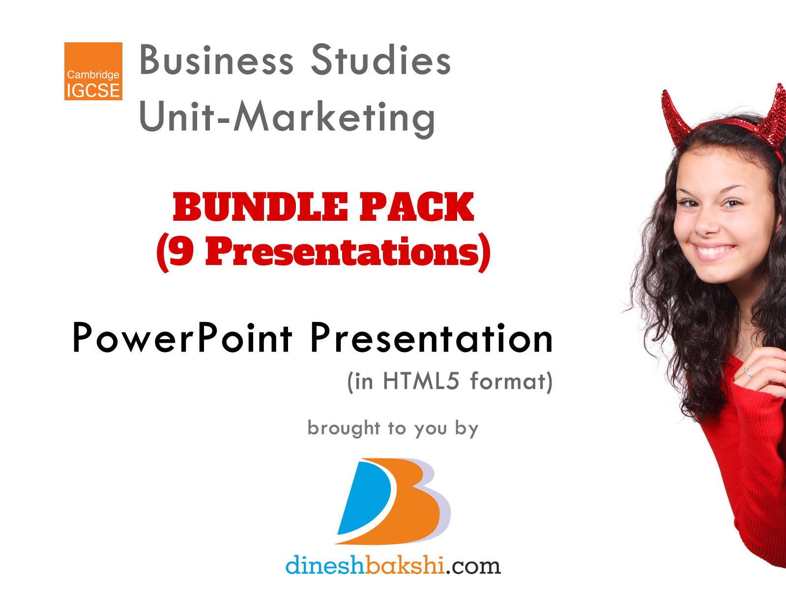 Presentations - Marketing Unit - IGCSE Business Studies