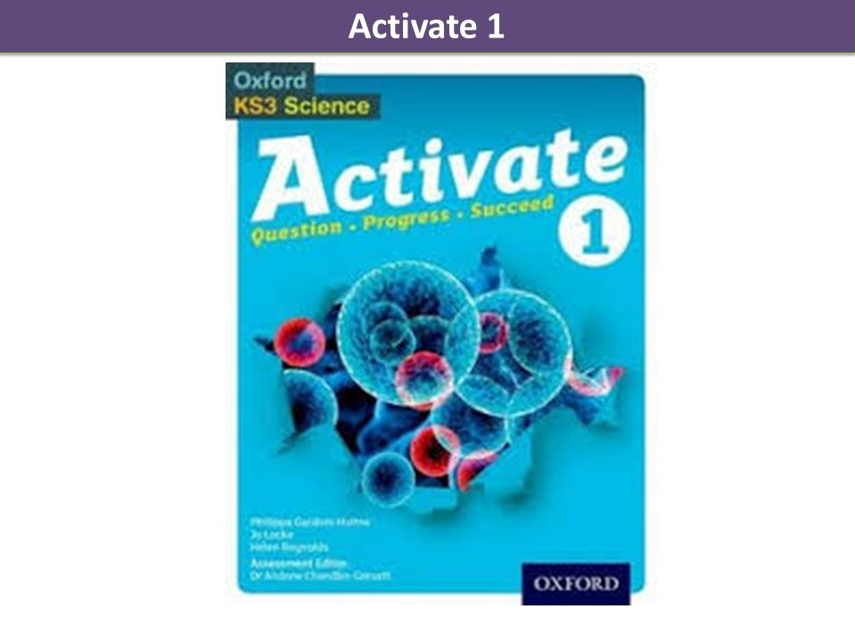 Activate 1 KS3 SOW Chemistry Chapter 2 WHOLE LESSONS