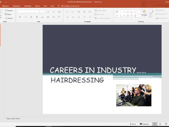 Careers in the hairdressing industry and CV writing