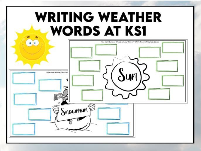 Write about the Weather and Seasons  KS1