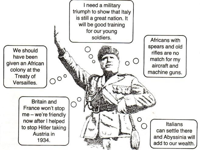 Card Sort: Why did Italy invade Abyssinia?