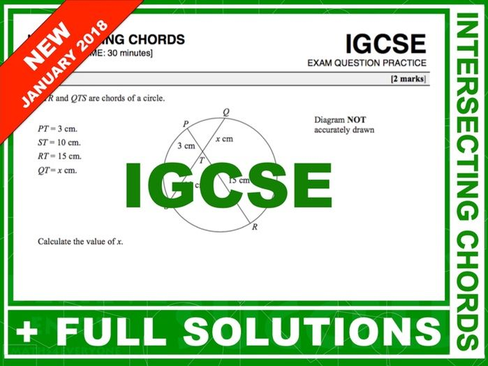 IGCSE Exam Question Practice (Intersecting Chords)