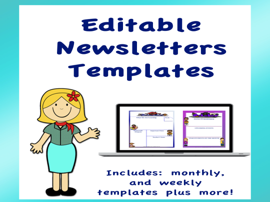 Editable Newsletter Templates Volume 4