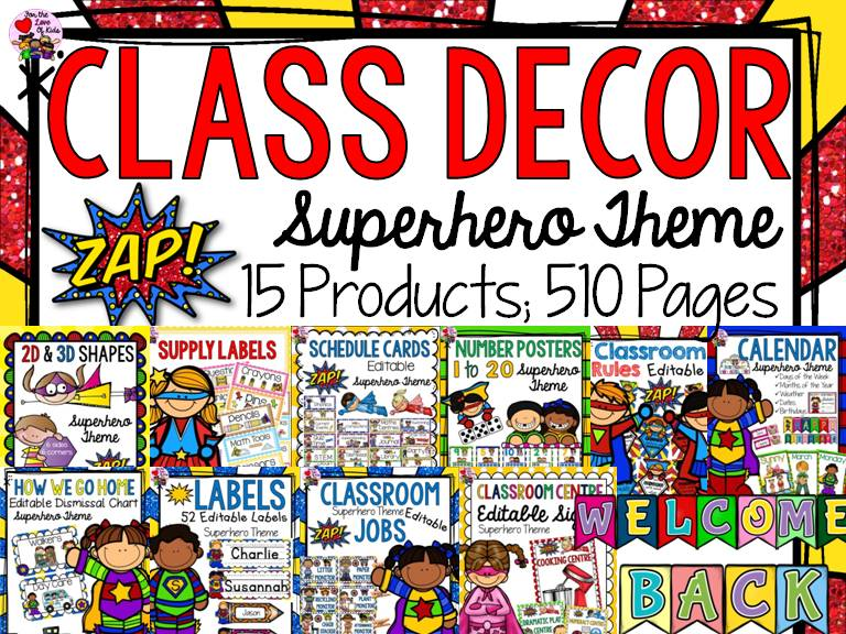 CLASS DECOR: SUPERHERO THEME {BACK TO SCHOOL}