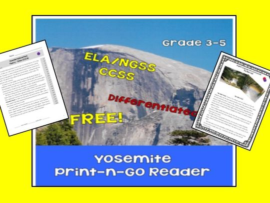 Yosemite ELA/NGSS Mini Unit or Early Finisher
