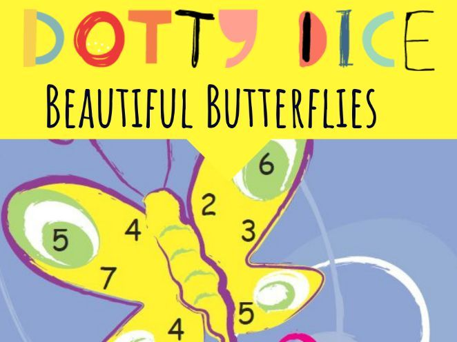 Beautiful Butterflies - Numeracy Board Dice Game - Counting from one on Materials