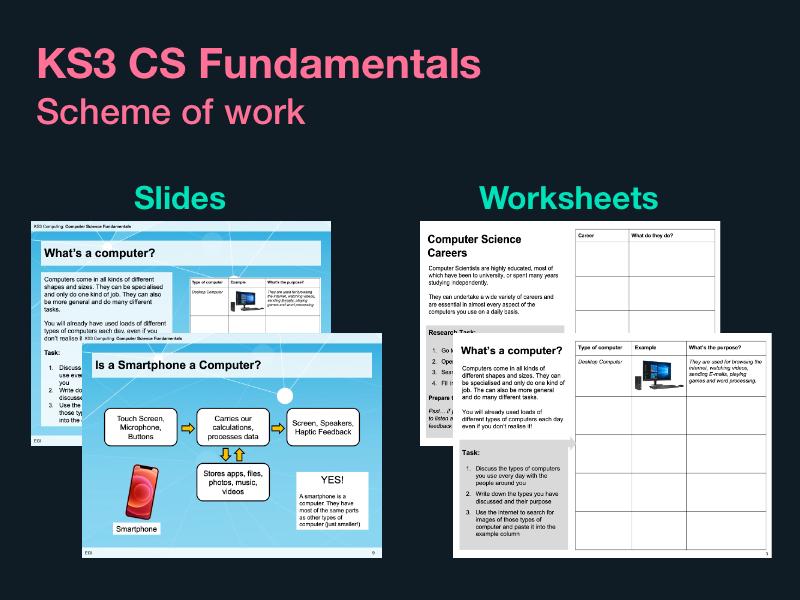 KS3 Computer Science Fundamentals: 5 lessons