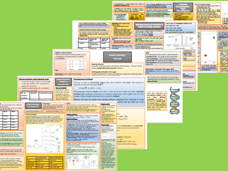 GCSE Chemistry knowledge organisers