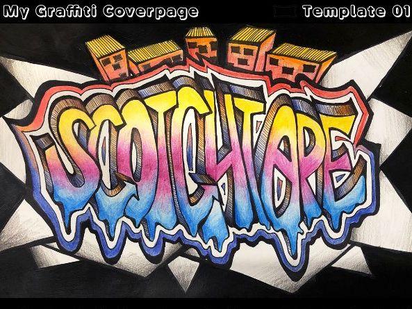 Graffiti Coverpage Typography Design Art Lesson (Videos/Templates/Slide)