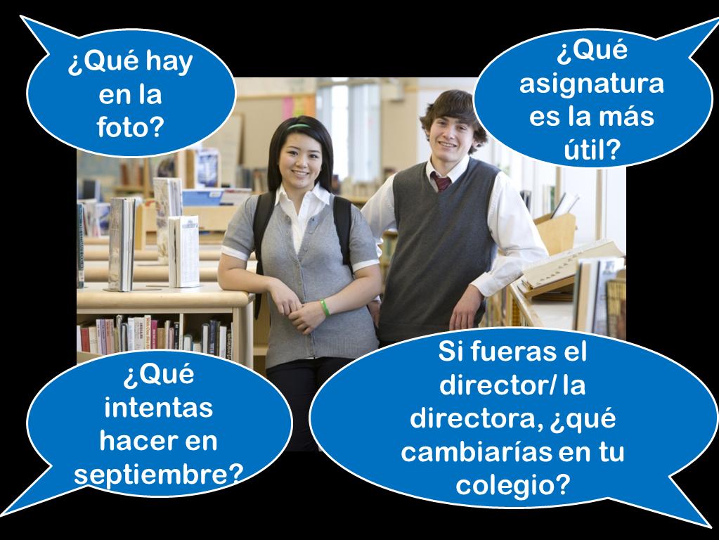 GCSE Spanish higher photo card practice