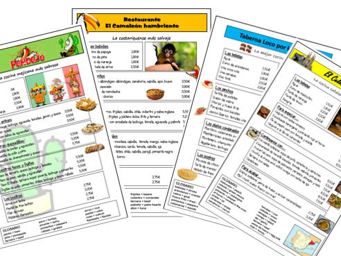 En el restaurante: Menús de países hispanohablantes (Year 7)