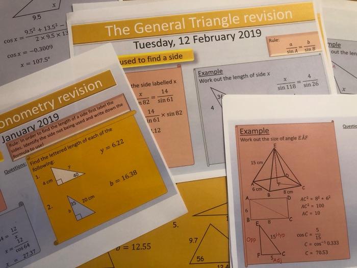 GCSE Pythagoras & Trigonometry Revision Lessons
