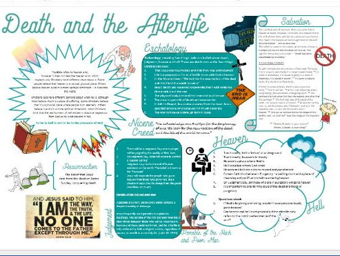 Christianity: Beliefs and Teachings: Death and the Afterlife Learning Mat