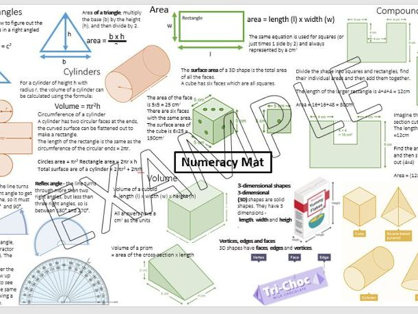 Numeracy Mat KS4/KS3 - Design and technology spec maths