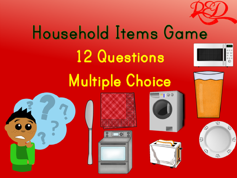 Household Objects Free PowerPoint
