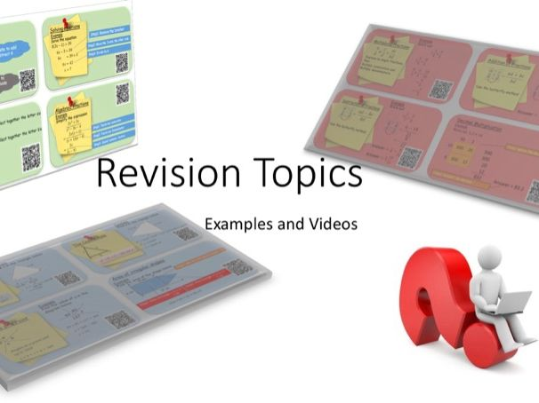 GCSE Mathematics Revision cards