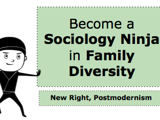 *FULL LESSON* How to Become a Ninja in Family Diversity: A-Level Sociology Postmodernism New Right