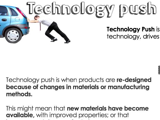 AQA Core Principles - Technology Push/Market Effects