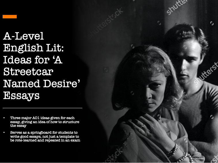 A Level English Literature 'A Streetcar Named Desire' Ideas for Essays (Edexcel)
