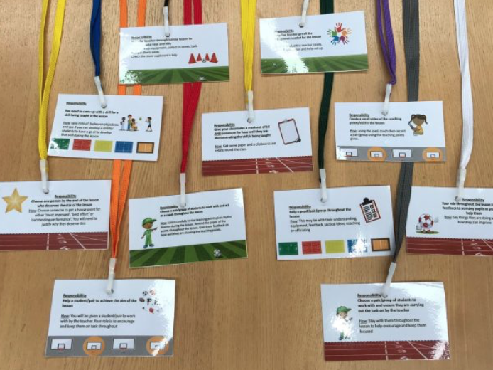 Non Participant lanyard ideas for PE lessons