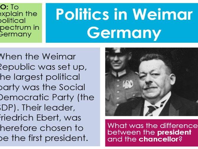 GCSE History Politics in Weimar Germany