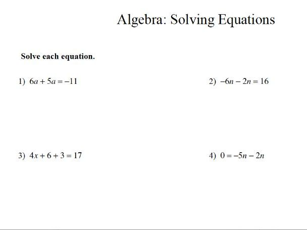 GCSE maths revision: solving algebraic equations
