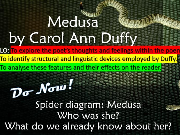 Poem Analysis- 'Medusa' by Carol Ann Duffy