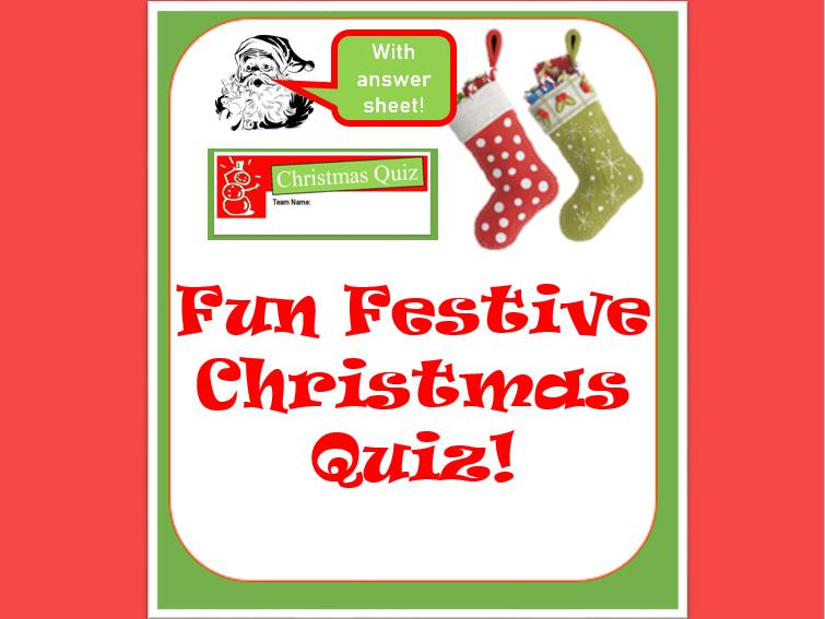 Fun Festive Christmas Quiz