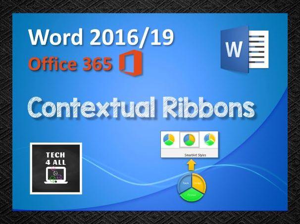 Microsoft Word: Contextual Ribbons