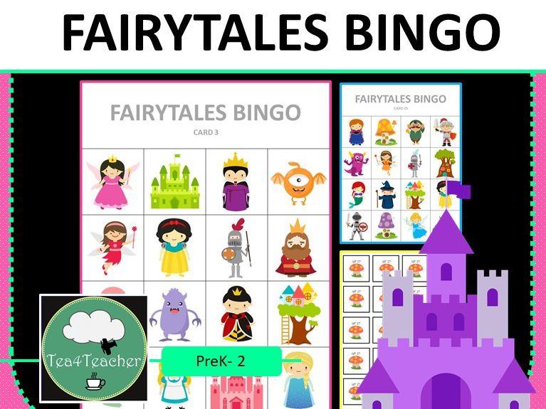 Fairytales Bingo Game