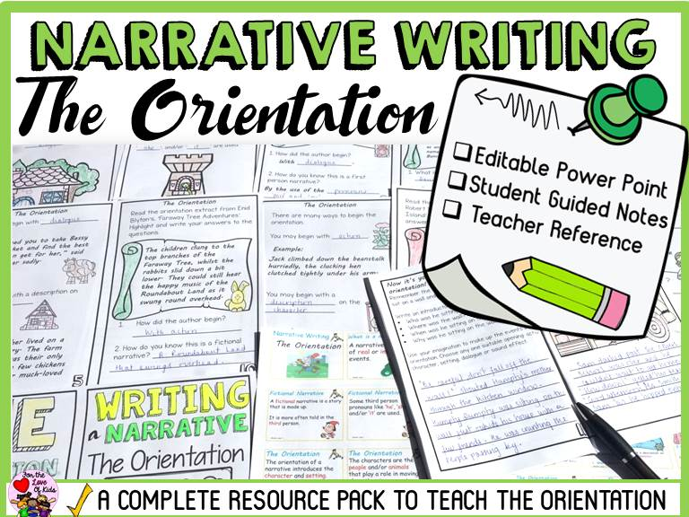 narrative writing  the orientation by fortheloveofkids3