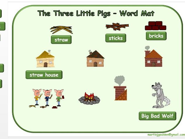 The Three Little Pigs - Create Your Own Word Mat