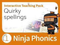 Ninja Phonics Quirky spellings