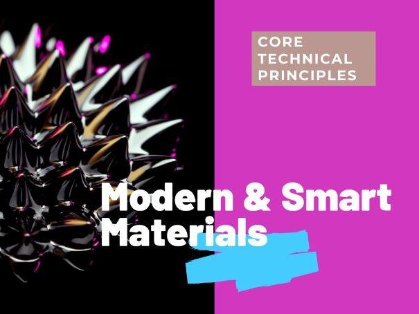 Modern and Smart Materials - PPT GCSE DT