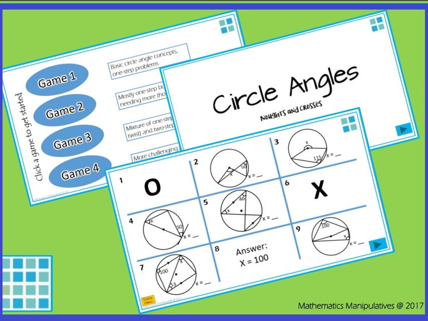 Geometry Circle Angles Noughts and Crosses PowerPoint Games