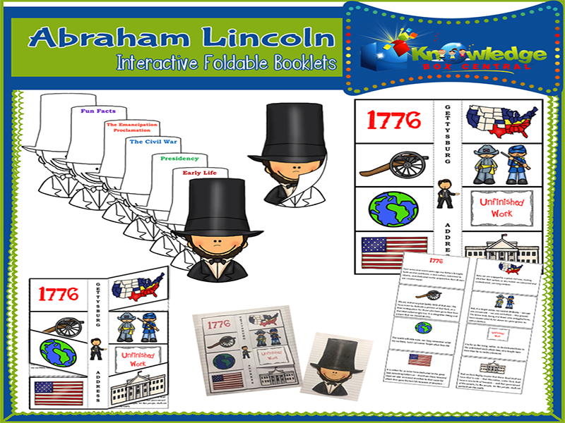 Abraham Lincoln Interactive Foldable Booklets