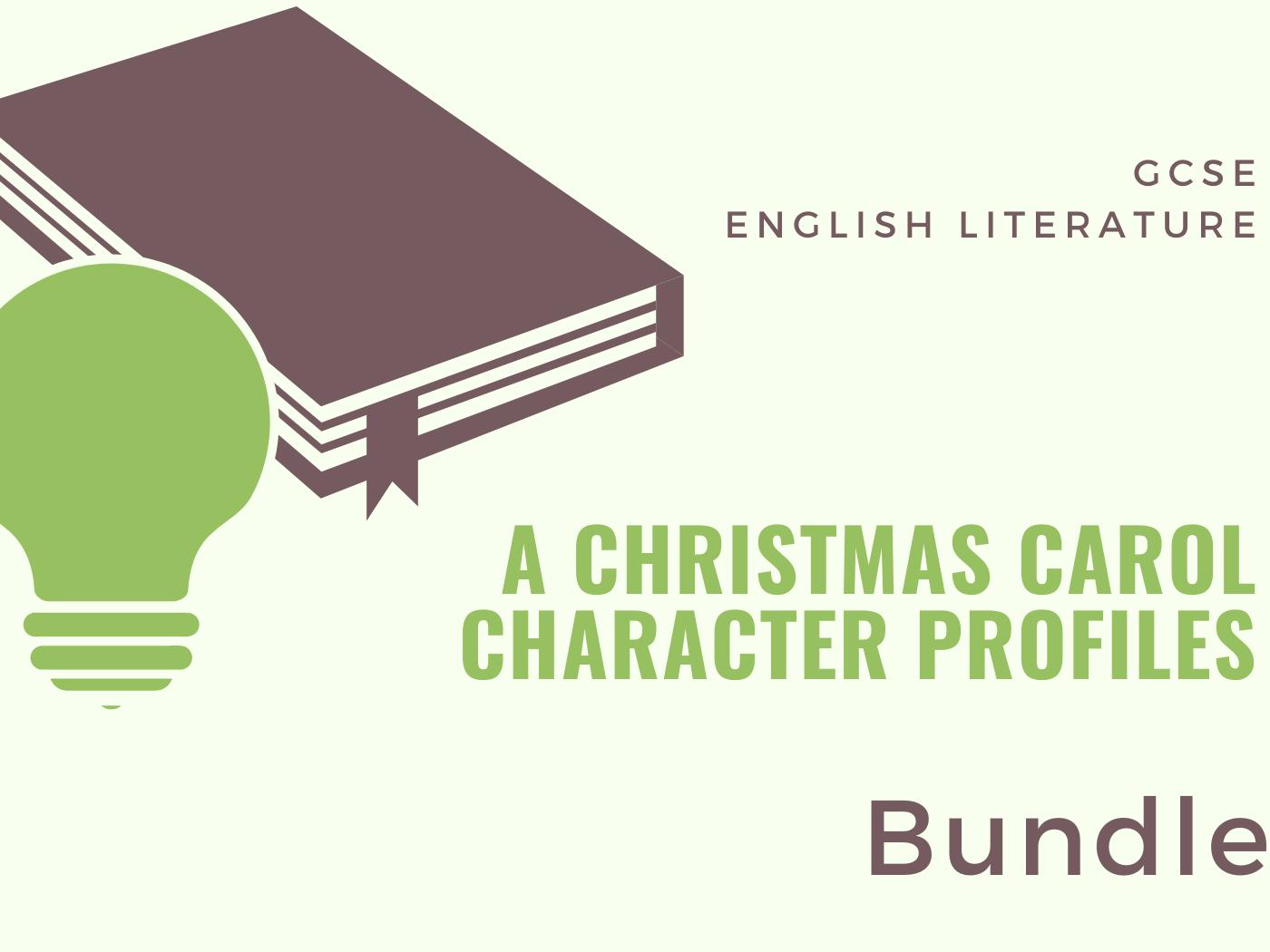 A Christmas Carol Character Profile Bundle