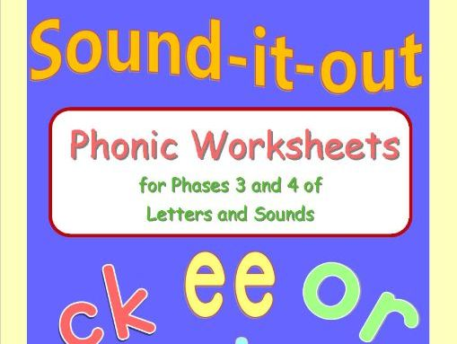 Phases 3 and 4 Phonic Practice Worksheets
