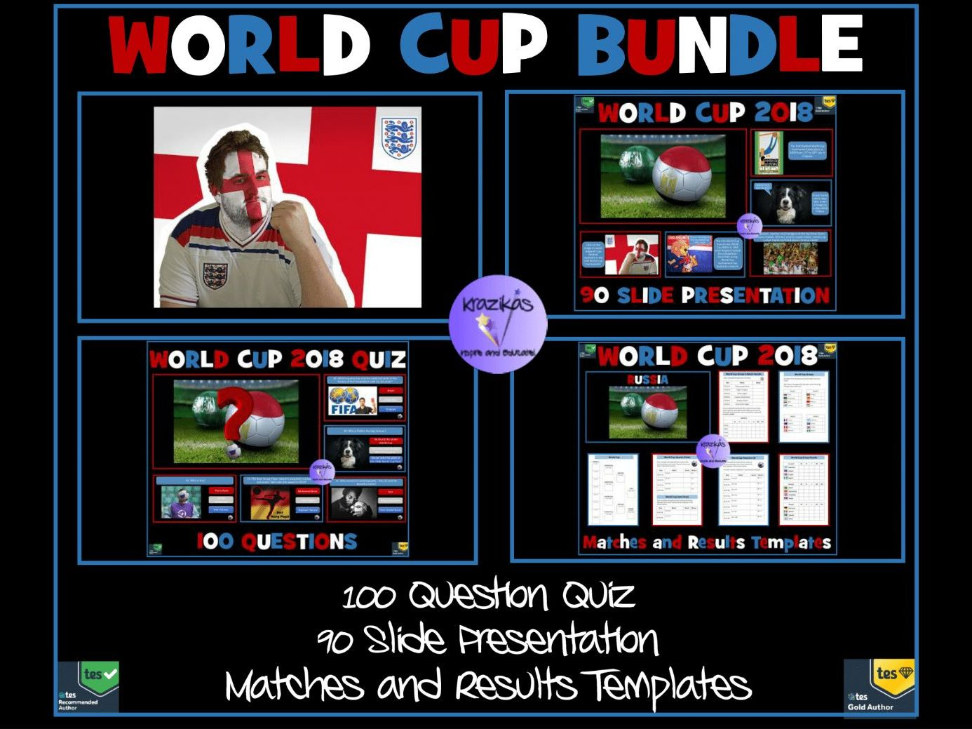 Football World Cup 2018 Bundle - Quiz, Presentation, Match Results Templates
