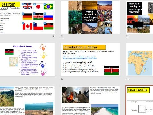 Place study - Introduction to Kenya (Lesson and resources).
