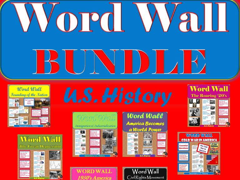word wall posters bundle posters u s history by chalkdustdiva