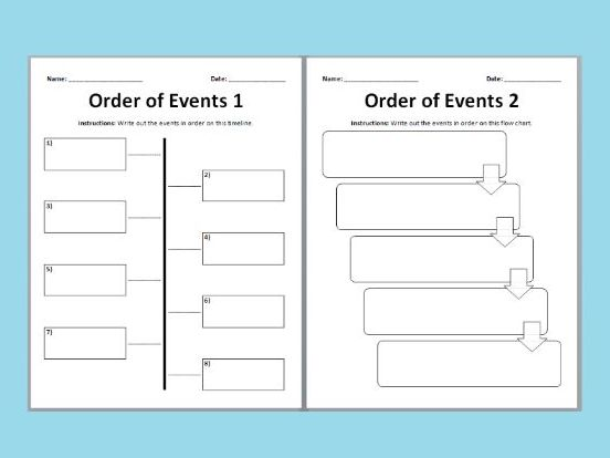 Order of Events - Timeline Templates