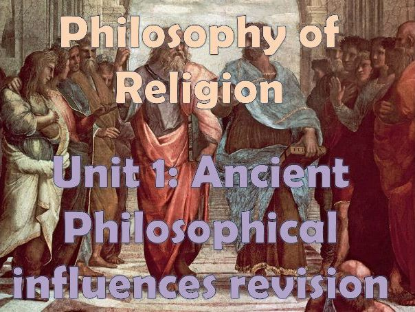 Ancient Philosophical Influences Revision Guide OCR A LEVEL (Plato and Aristotle )