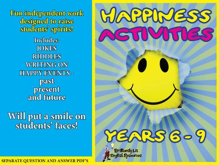 English Happiness Activities -Home Learning