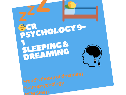 OCR GCSE  Psychology 9-1 Sleeping and Dreaming Lessons