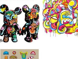 Jon Burgerman. Graffiti street Illustration